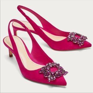 Zara pink heels
